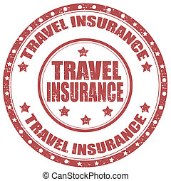 Grunge rubber stamp with text Travel Insurance, vector illustration