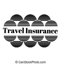 TRAVEL INSURANCE stamp on white background