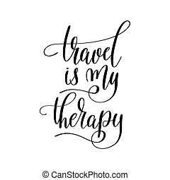 travel is my therapy inspirational quote about summer travel