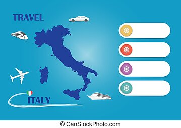 Travel Italy template vector