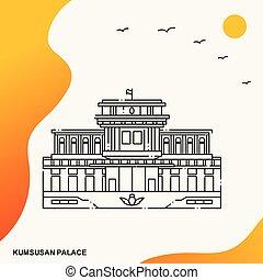 Travel KUMSUSAN PALACE Poster Template