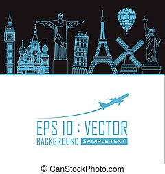 travel landmark background EPS10