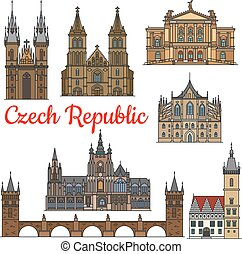 Travel landmarks and monuments of Czech Republic
