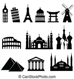 Travel landmarks and monuments - Travel famous landmarks and...