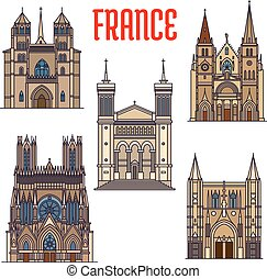 Travel landmarks of french gothic architecture