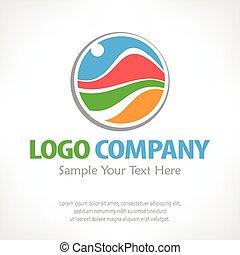 Travel logo Color vector illustration