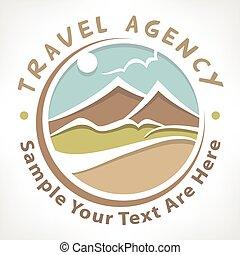 Travel logo pastel