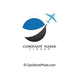 Travel logo template vector icon illustration