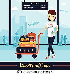 Travel Luggage Illustration