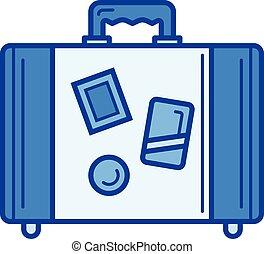 Travel luggage line icon.
