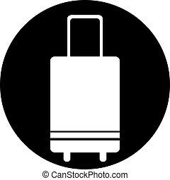 travel luggage suitcase icon