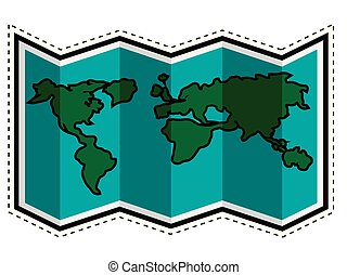 Travel map dotted sticker
