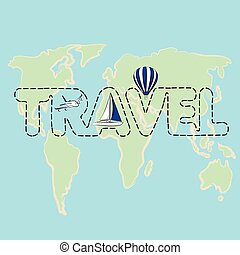Travel map on a globe