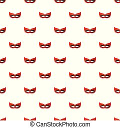 Travel mask pattern seamless vector