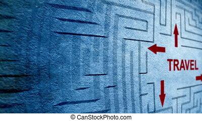 Travel maze concept