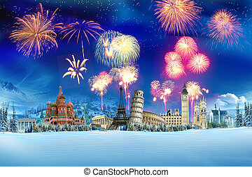 Travel - New year around the world - New Year and Christmas...
