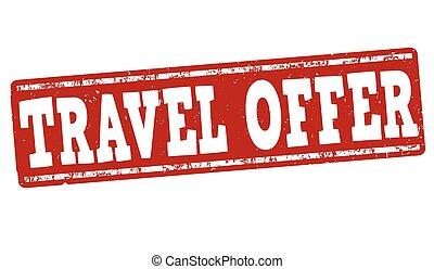 Travel offer stamp
