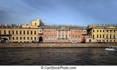 travel on canals of St. Petersburg - View of the Fontanka...