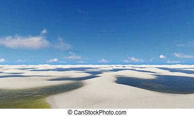 Travel on off-road among unique Brazil desert 4K - Travel...