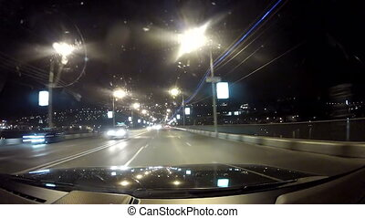 Travel on the night highway