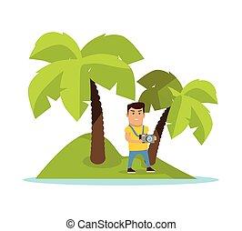 Travel on Tropics Concept Vector Illustration