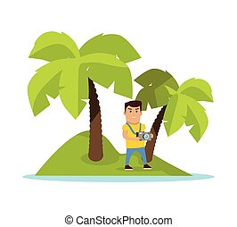 Travel on Tropics Concept Vector Illustration