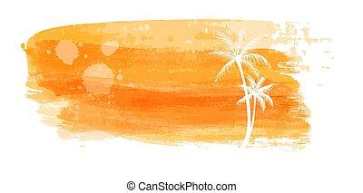 Travel orange background