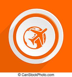 travel orange flat design modern icon for web and mobile app