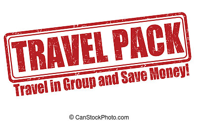 Travel pack stamp
