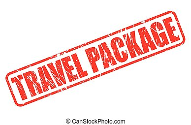 TRAVEL PACKAGE red stamp text