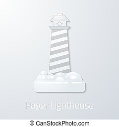 Travel Paper Lighthouse flat vector icon