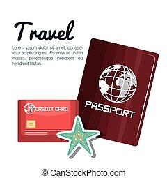 travel passport and credit card design