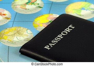 Travel passport - Travel with passport and map