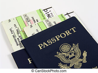 Travel - Photo of Passports and Airline Tickets