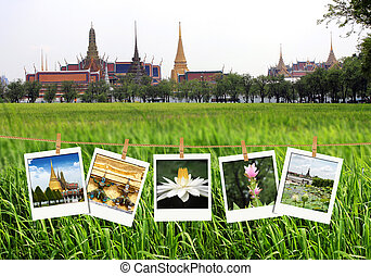 travel photography on clothespins, thailand