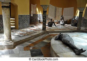 Travel Photos of Israel - Acer Akko - Turkish Hammam bath in...