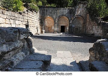 Ancient jewish tomb in Beit Shearim, Israel.