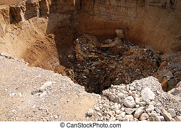 Travel Photos of Israel - Dead Sea - Sinkholes in the Dead...