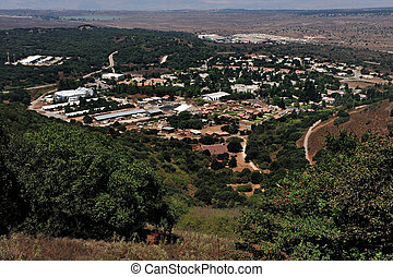 Travel Photos of Israel - Golan Heights - kibbutz Merom...