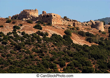 Travel Photos of Israel - Golan Heights - Nimrod Fortress at...