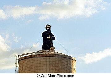 Travel Photos of Israel - Herzliya - Street sculpture of...