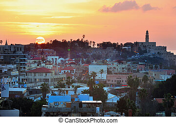Travel Photos of Israel - Jaffa - Jaffa skyline during...