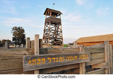 Travel Photos of Israel - Kibbutz Negba - Restore Wall and...