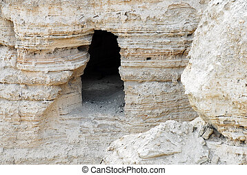 Travel Photos of Israel - Qumran Caves - The caves of...