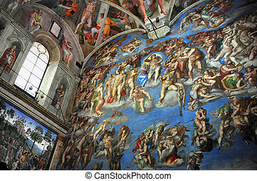 Travel Photos of Italy - Rome - The Sistine Chapel ceiling...