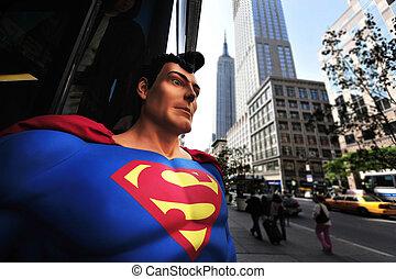 Travel Photos of New York - Manhattan - Superman and the...