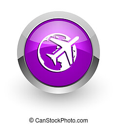 travel pink glossy web icon
