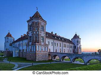 Travel Places and Torist Destinations. Renowned Mir Castle ...