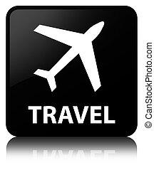Travel (plane icon) black square button