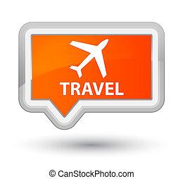 Travel (plane icon) prime orange banner button